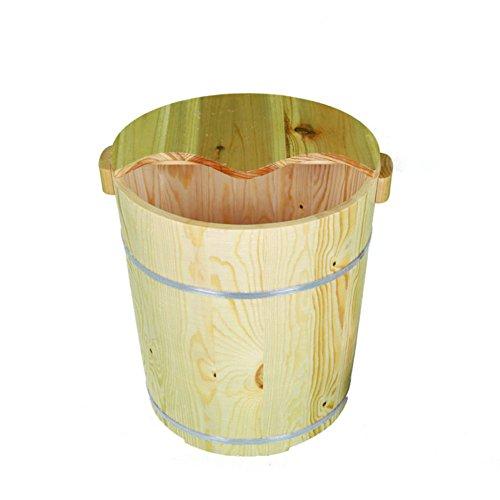 Preisvergleich Produktbild ZHANGQI Pediküre-Becken Fuß Bad Eimer 40cm Hoch Fuß Bad Hause Holz Fußbad Holz Erwachsenen Fuß Eimer Fußpflege, B
