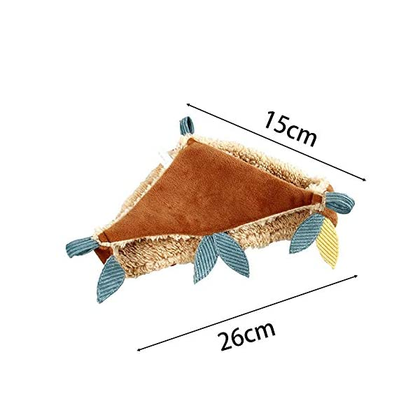 HUVE Flying Squirrel Warm Hammock - Cotton Hanging Bed Nest For Hamster Golden Hamster For Small Pet Chinchilla Rabbit Guinea Pig Playing Sleeping HUVE ▶Made of high quality materials, it is durable and practical. ▶Made of super soft velvet, it is comfortable and comfortable and warm. ▶Small pet hammock warm bed double layer squirrel mat for hamster squirrel guinea pig. 2