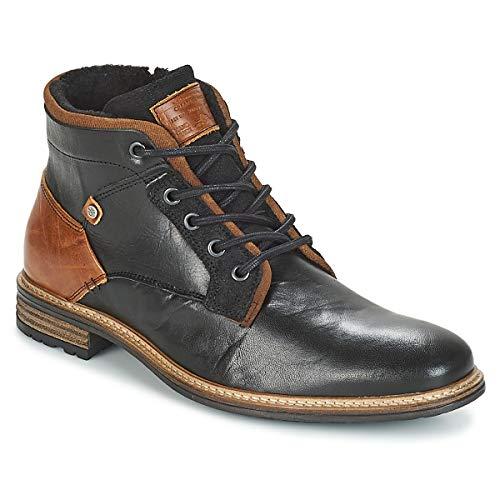 BULLBOXER Herren Winterstiefel 870K56088,Männer Winter-Boots,Fellboots,Fellstiefel,gefüttert,Warm,Blockabsatz,Black,EU 43