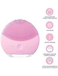 FOREO LUNA mini 2 Brosse visage en silicone doux pour tous les types de peau Pearl Pink, Rechargeable via câble USB
