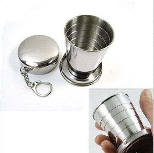 ezyoutdoor-2pcs-folding-cups-collapsible-cup-stainless-steel-portable-metal-telescopic-keychain-for-