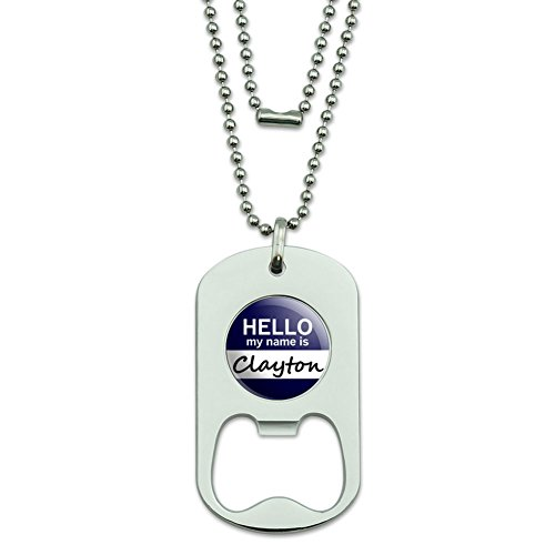clayton-hello-my-name-is-dog-tag-flaschenoffner