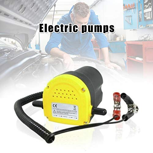 Dušial Professional Electric Oil Pump Suction Transfer Pump with Tubes for Auto Car Boat, Motor Oil Diesel Extractor Scavenge Suction Transfer Change Pump -