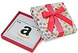 Amazon.de Geschenkkarte in Geschenkbox - 20 EUR (Bunte Punkte)