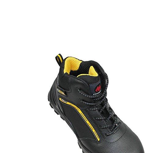 Aimont lm berufsschuhe businessschuhe s3 sRC chaussures de chaussures de sécurité chaussures de travail noir Noir - Noir
