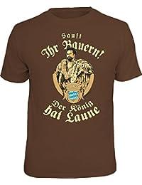 Original RAHMENLOS® T-Shirt: sauft ihr Bauern! Der König hat Laune