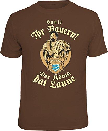 T-Shirt: sauft Ihr Bauern! Der König hat Laune -