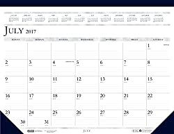 House of Doolittle 2017-2018 Monthly Desk Pad Calendar, Academic, Classic, 18.5 x 13 Inches, July - August (HOD1556-18)