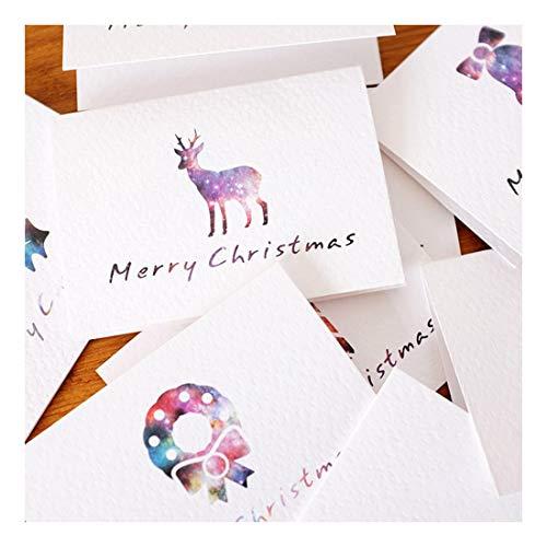 ZHOUBIN Biglietti di auguri splendidamente piegati molti stili biglietti di auguri carte di Capodanno benedizione di amanti genitori del Ringraziamento Generale, Fawn 4 fogli set