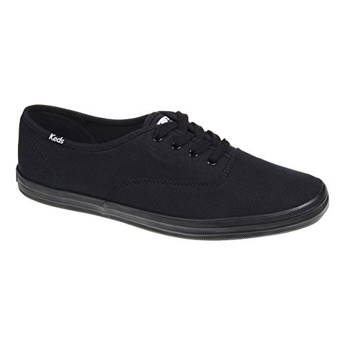 womens-keds-champion-canvas-lace-up-plimsoll-casual-flat-trainers-black-85-by-keds