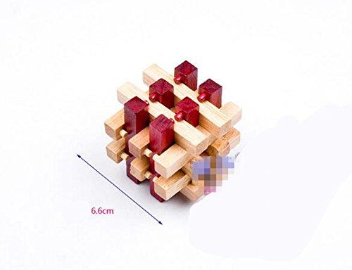 Qiu Ping Holz Kong Ming Lock Farbe 18Spalte Lock Kinder Erwachsene Bildungs-Spielzeug (Holz-spalte)