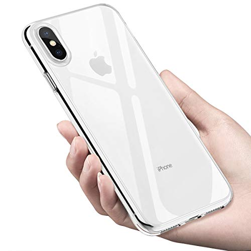 Infreecs Coque iPhone XS Max, Crystal Housse iPhone XS Max Souple Coque TPU Bumper Etui Ultra-Thin Anti-Rayures Absorption de Choc Silicone Bumper Housse de Protection pour iPhone XS Max Case Cover - Transparent