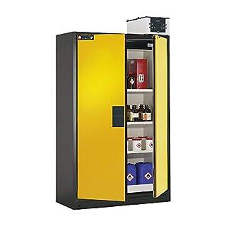 ASECOS Sicherheitsschrank Q90 RAL 7016/RAL 1004 3xFB1xBW.S (St.bl.) zur Lagerung von entzündbaren Gefahrstoffen in Arbeitsräumen