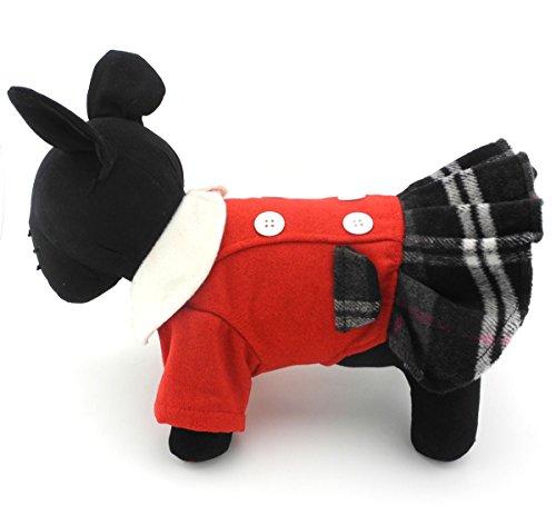 zunea Prinzessin elegantes Plaid kleine Hund Katze aus Wolle Kleid Warm Winter Coat Jacke Windbreaker Pet Puppy Hund Chihuahua Kleidung Bekleidung