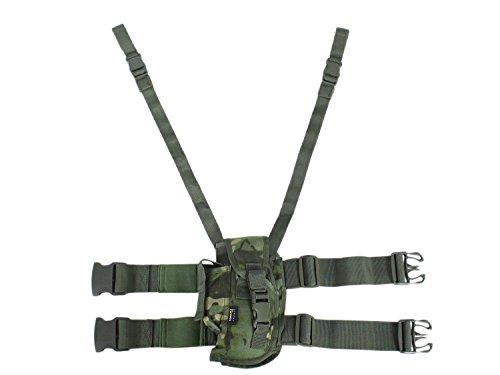 BE-X Taktisches Oberschenkelholster für Pistolen mittlerer Grösse, links - multicam tropic
