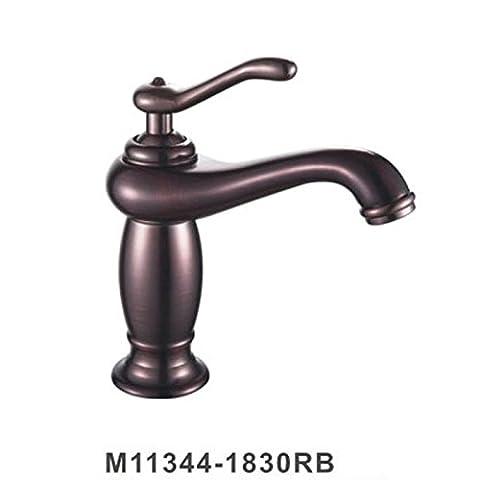 furesnts Maison moderne Cuisine et Salle de Bain Robinet tous les cuivre bassin chaude et froide trou simple robinet Marron Bronze American Meuble Salle de Bain de l