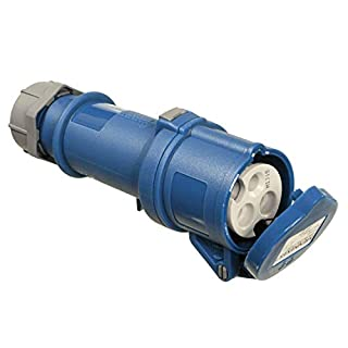 as - Schwabe 60592 3-Pin CEE Socket for Caravan, 230 V/32 A, for Outdoor Use, Blue