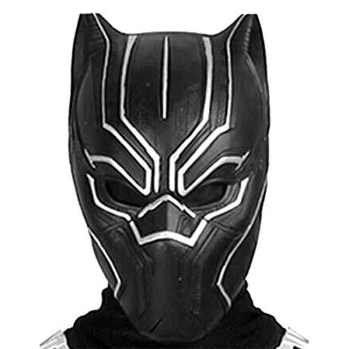 (DingChen Schwarz Panther Maske Kostüm Deluxe Halloween Schwarz Helm Herren Cosplay Mask)