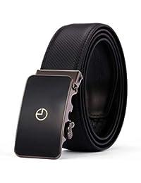 FuweiEncore Cinturón de Cuero con Hebilla automática para Hombres Cinturones  Minimalistas de Color sólido (Color 08782c9ac823