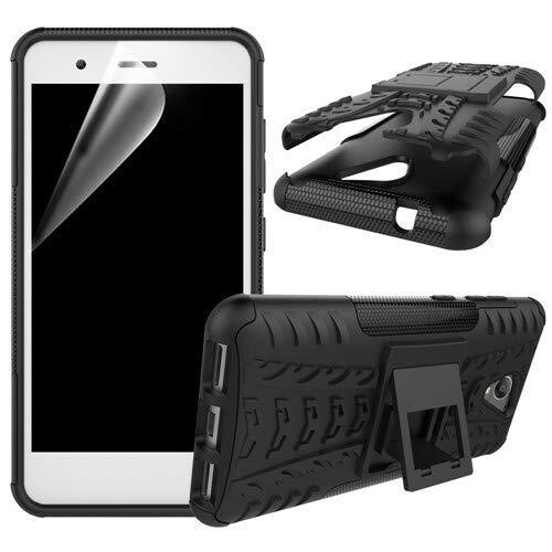 betterfon | Outdoor Handy Tasche Hybrid Case Schutz Hülle Panzer TPU Silikon Hard Cover Bumper für ZTE Blade L5 / L5 Plus Schwarz