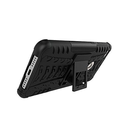 Flip kick stand Hard Dual Armor Hybrid Bumper Back Case Cover for Lenovo Zuke Z1 Black