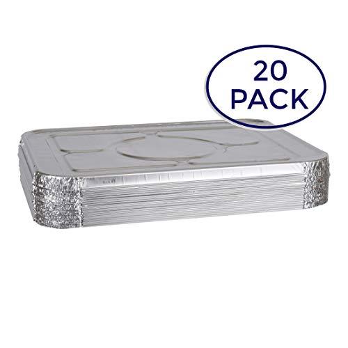 363930c7a86 Aluminum Foil Lids for Aluminum Steam Table Pans, Fits Half-Size Pans (1