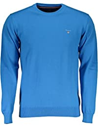 9547414234a0 Gant 171.88201.406 Pullover Crew Neck Stretch Cotton Ocean Blue Girocollo  Uomo in 100%