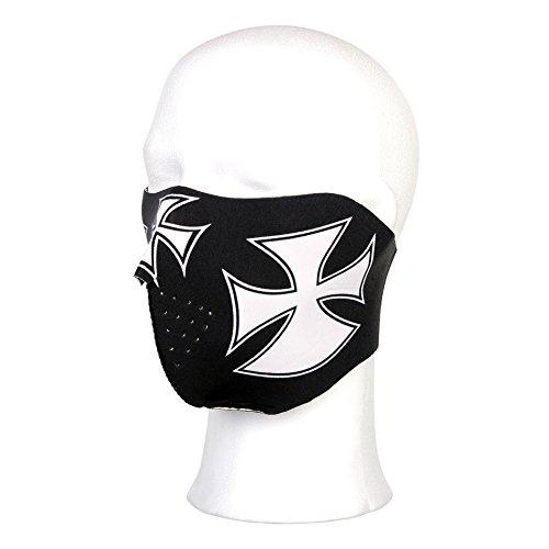 Maschera in neoprene per motociclista modello Croce Maltese