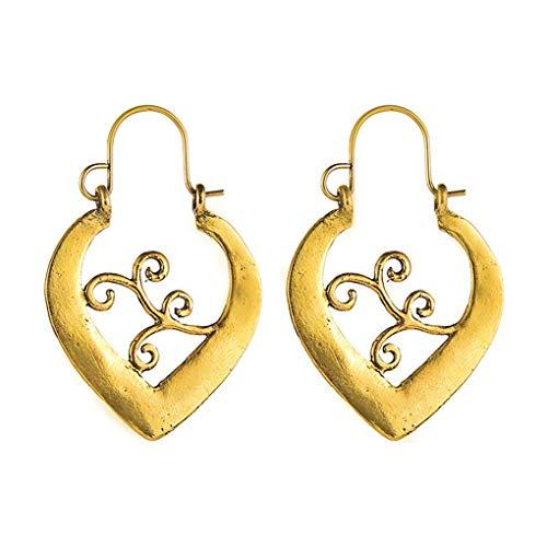Hanxin Frauen-Mädchen-Herz-Form-Ohrring-Legierungs-Ohr-Klipp Pin-Bolzen-Jacke Spike Schmuck Souvenirs (Für Frauen Spike-bolzen-ohrringe)