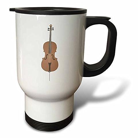 statuear Violoncelle Musique Instrument 14-Ounce Tasse de voyage en acier inoxydable