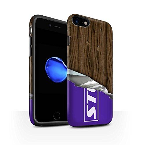 STUFF4 Matte Harten Stoßfest Hülle / Case für Apple iPhone 7 / Multipack (10 Modelle) / Schokolade Kollektion Eingewickelt Flake