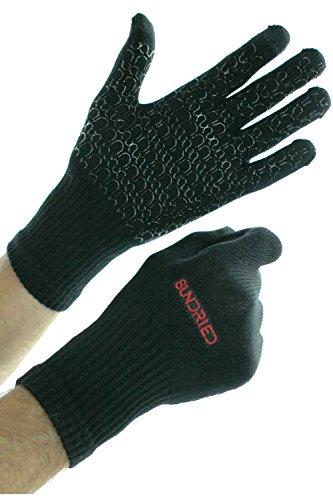 Ciclo del deporte Running guantes del tacto de la tecnología de la pantalla por Sundried   transpirable bambú antideslizante del gel de silicona