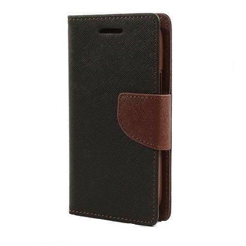 Kapa Mercury Goospery Fancy Diary Wallet Flip Case Cover for Lenovo A7000/K3 Note - Black/Brown