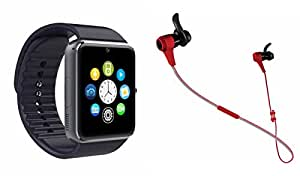 MIRZA Smart Watch & Reflect HEadset for SAMSUNG GALAXY CORE PRIME 4G(Reflect HEadset & GT08 Smart Watch Phone with Camera & SIM Card Support Hot Fashion New Arrival Best Selling Premium Quality Lowest Price with Apps like Facebook,Whatsapp, Twitter, Sports, Health, Pedometer, Sedentary Remind,Compatible with Android iOS Mobile Tablet-Assorted Color)