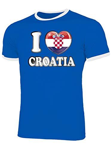 Kroatien Croatia Hrvatska Fan t Shirt Artikel 4784 Fuss Ball EM 2020 WM 2022 Ringer Trikot Look Flagge Fahne Dres lopta nogomet Männer Herren XL