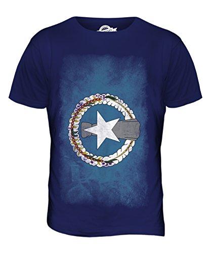 CandyMix Nördliche Marianen Verblichen Flagge Herren T Shirt Navy Blau