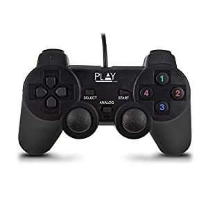 ewent PLAY WIRED USB GAMEPAD, Black