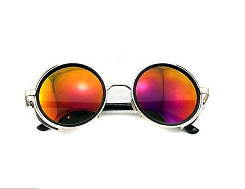 Sonnenbrille im Stil Steampunk/ Vintage/ 50er-Jahre, rund, Rahmen -