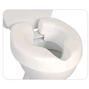 NRS Healthcare F25145 Novelle Portable Clip-On Raised Toilet Seat (Eligible for VAT Relief in The UK)