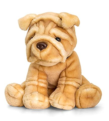 Show Them You Care - Low Cost Great value My First Teddy Bear Present Gift Idea For Boy Boys Girl Girls Kids Children Child - Deluxe Doggy 35cm Sharpei Soft Toy Dog - Recommended For Age