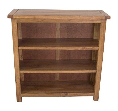 CbC Unterschrank Bücherregal, niedrig, Holz, gewachst