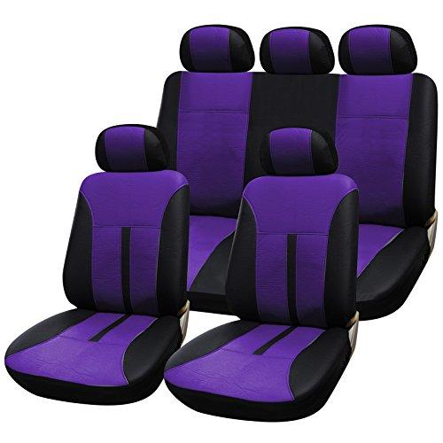 Car seat covers fit Audi A3 full set black leatherette