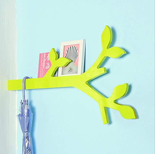 Cmxdz Creative Branch Home Crochet Simple Chambre Salon Tenture murale Rack Tenture murale (715 * 438 * 76mm) (Color : Green)