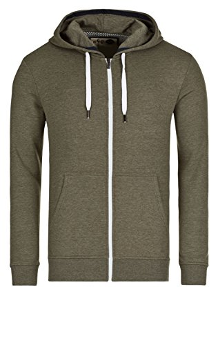 Solid Herren Sweatjacken Zip-Hoodie Sweat-Deacon 2014 Star MOD 15882 D.G, 8797 ivy green mel, S Mod Zip-hoody