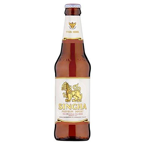 Singha prima de importación tailandesa cerveza de 330 ml (Pack de 24 x 330 ml)