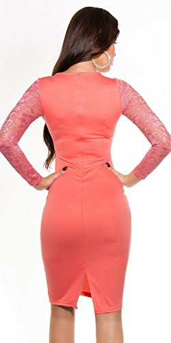 10 Pcs Sexy Jeans-Neckminidress with belt Koucla by In-Stylefashion SKU 0000A227301 Coral