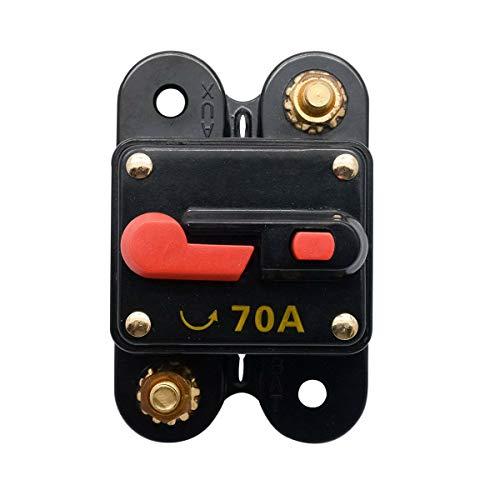 70AMP 300AMP Auto Marine Boat Bike Stereo Audio Leistungsschalter - MASO 12V-24V DC-Inline-Sicherungsautomat Marine 70 Amp
