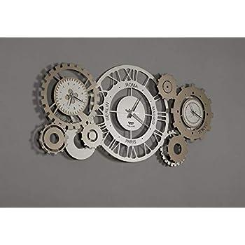Arti E Mestieri Horloge Murale Fuseau Mexicain Sable Bronze