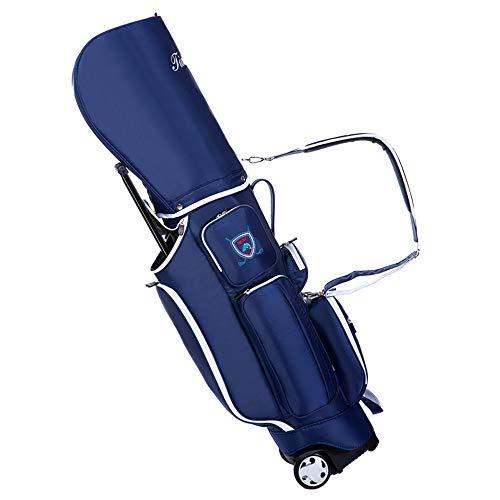 Yishelle Golf-Tragebags, Leichte Golf Stand Bag Wasserdichte Golf Carry Bag Große Kapazität Golf Club Bag mit großen Rädern (Farbe : C2, Größe : 128 * 25 * 40cm)