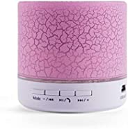Star Portable Mini Wireless Bluetooth Speaker USB Music Micro SD TF USB Disk Build-in Mic Pink